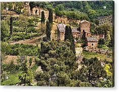 Acrylic Print featuring the photograph Farm Orvieto Italy by Hugh Smith