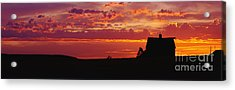 Farm Sunset Acrylic Print by Joe Sohm and ChromoSohm and Photo Researchers