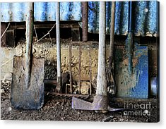 Farm Tool Acrylic Print by Stephen Mitchell