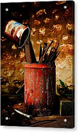 Farm Yard Bucket Acrylic Print