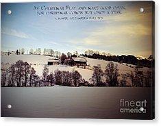 Farmer's Christmas Acrylic Print by Sabine Jacobs