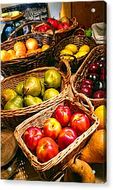 Farmer's Market Fruit Stand With Wicker Baskets Acrylic Print