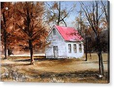 Farmers Ridge School Acrylic Print by Don Cull