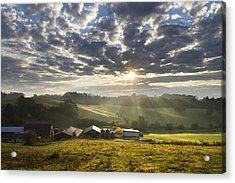 Farmlands Of Appalachia Acrylic Print by Debra and Dave Vanderlaan