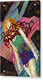 Fashion Abstraction De Dan Richters Acrylic Print by Kenal Louis