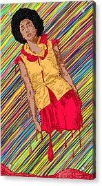 Fashion Abstraction De Fella Acrylic Print by Kenal Louis