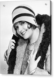 Fashion: Cloche Hat, 1929 Acrylic Print by Granger