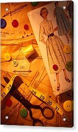 Fashion Old Dress Pattern Acrylic Print by Garry Gay