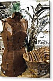 Fashionable Flea Market Acrylic Print by Gwyn Newcombe