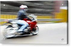 Fast Superbike India Acrylic Print by Kantilal Patel