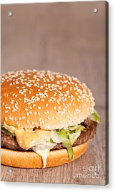 Fat Hamburger Sandwich Acrylic Print by Sabino Parente