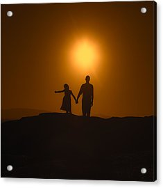 Father And Daughter Acrylic Print by Joana Kruse