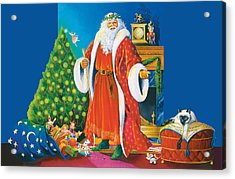 Father Christmas Acrylic Print