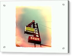 Father's Office Acrylic Print by Nina Prommer