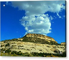 Acrylic Print featuring the photograph Faux Volcano by Lin Haring
