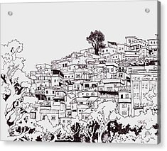 Favelas  Acrylic Print by Ben Leary
