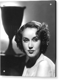 Fay Wray, Columbia Pictures, Ca. Late Acrylic Print by Everett