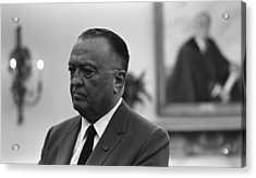 Fbi Director, J. Edgar Hoover, In An Acrylic Print by Everett