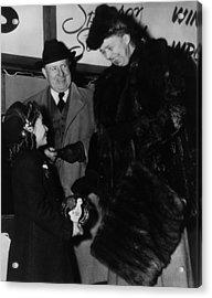 Fdr Presidency. From Left Recovered Acrylic Print by Everett