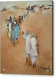 Fear  Acrylic Print by Negoud Dahab