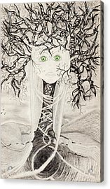 Fear Acrylic Print by Yolanda Raker