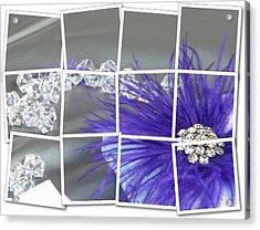 Acrylic Print featuring the digital art Feather And Jewels by Michelle Frizzell-Thompson