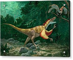 Feathered Dinosaurs Acrylic Print by Chris Butler