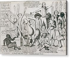 Federalist Cartoon Of 1793 Shows Acrylic Print by Everett