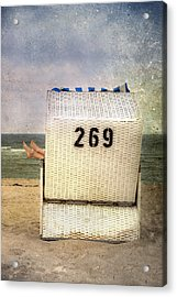 Feet And Beach Chair Acrylic Print by Joana Kruse