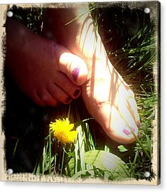 Feet In Grass - Summer Meadow Acrylic Print