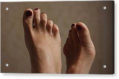 Feet Of A Happy Woman After Coupling Acrylic Print by Svetlana  Sokolova