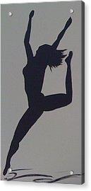 Female Dancer Silhouette Acrylic Print by Judi Goodwin