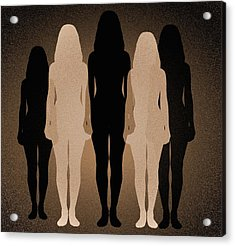 Female Identity, Conceptual Image Acrylic Print by Victor De Schwanberg