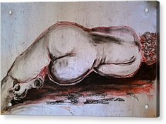 Female Nude Sleeping Acrylic Print