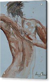 Female Nude Study No 1 Acrylic Print by Laurel Thomson