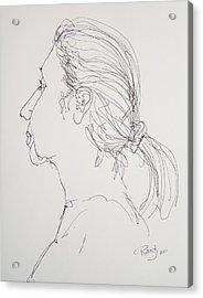 Female Portrait 05 Acrylic Print