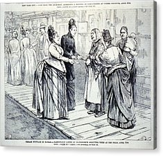 Female Suffrage In Kansas. Ladies Acrylic Print by Everett