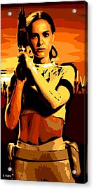 Female Warrior Acrylic Print