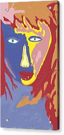 Feminine Fire Acrylic Print by Mark Stidham