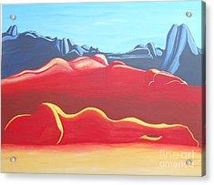 Feminine Landscape Acrylic Print