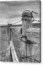 Fence And Wire Acrylic Print