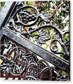 #fence #gate #decorative #ornamental Acrylic Print