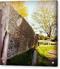#fence #path #pathway #park #wood Acrylic Print