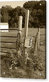 Fence Post Acrylic Print by Jennifer Ancker