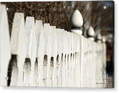 Fence Acrylic Print by Yumi Johnson