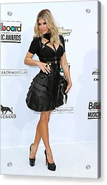 Fergie Wearing A Herve Leger By Max Acrylic Print
