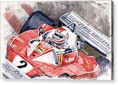Ferrari 312 T 1976 Clay Regazzoni Acrylic Print by Yuriy  Shevchuk