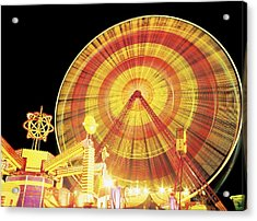 Ferris Wheel And Other Rides, Derry Acrylic Print by The Irish Image Collection