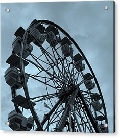 Acrylic Print featuring the photograph Ferris Wheel Blue Sky by Ramona Johnston