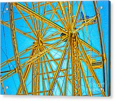 Ferris Wheel Acrylic Print by Gregory Dyer